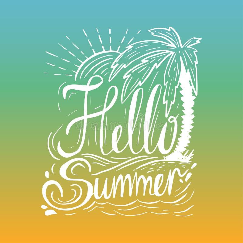 手拉的葡萄酒行情关于夏天: 向量例证