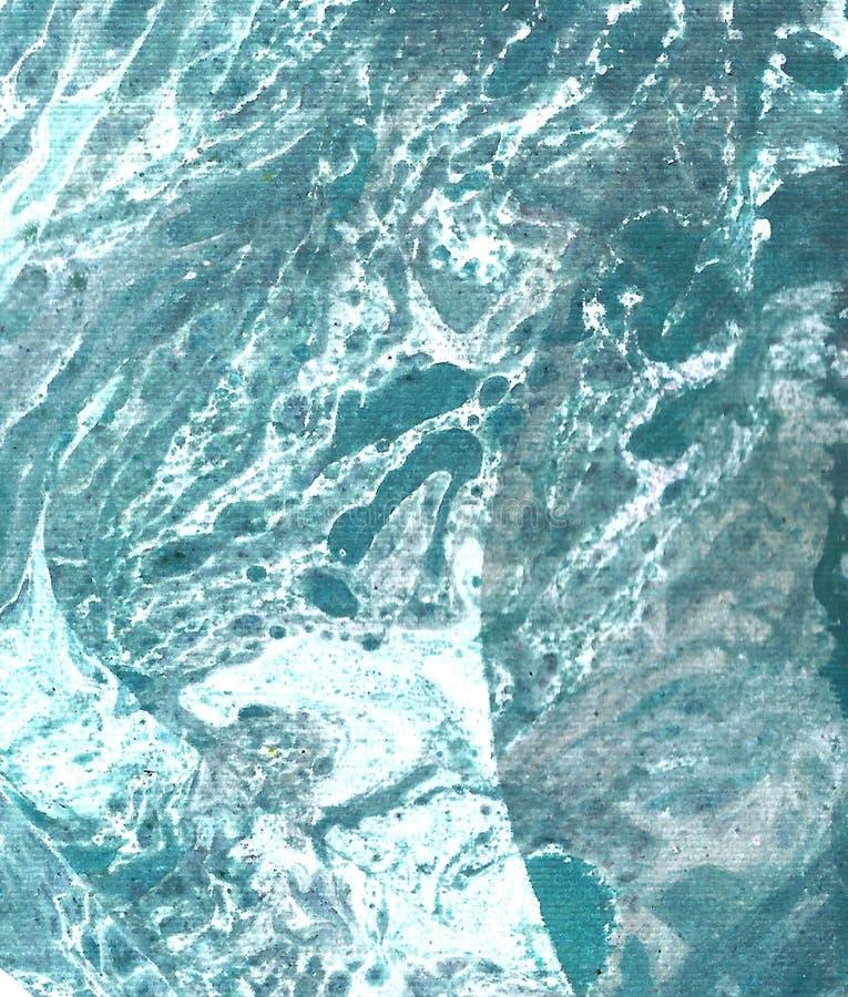 手拉的蓝色抽象背景 库存例证