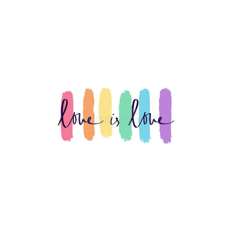 手拉的蜡笔彩虹艺术、LGBT旗子、同性恋自豪日和其他社会运动、印刷品海报的,卡片,T恤杉和更多 向量例证
