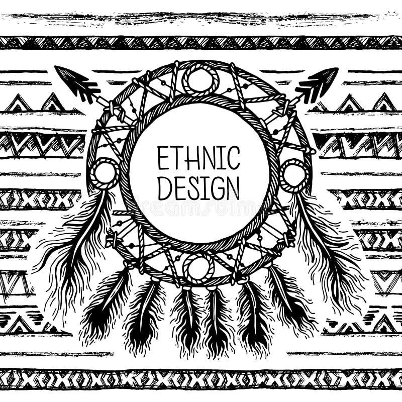 Download 手拉的被绘的无缝的样式 黑白颜色 套墨水种族条纹和梦想俘获器 向量例证 - 插画 包括有 抽象, 打印: 72360918
