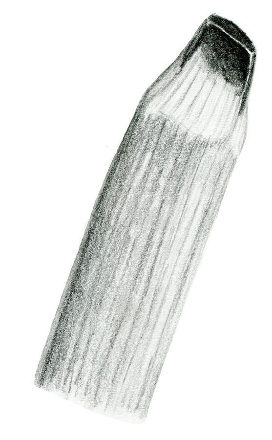 手拉的铅笔技巧例证 免版税库存照片