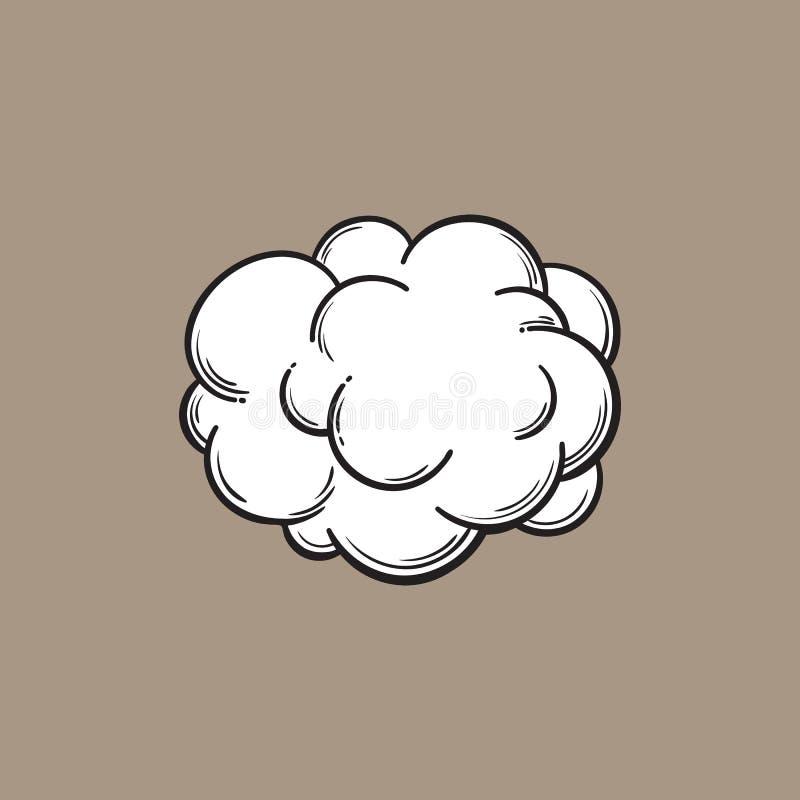 手拉的雾,烟云,隔绝了可笑,剪影传染媒介例证 库存例证