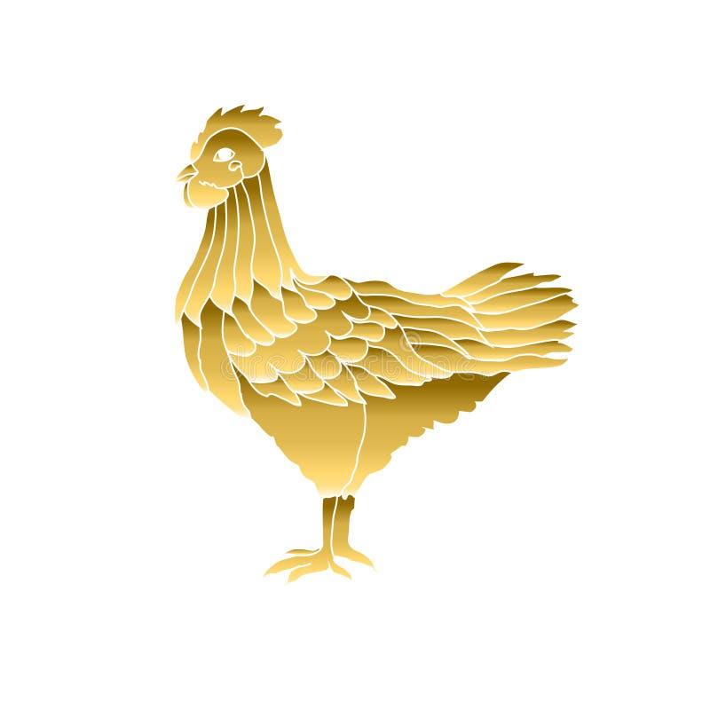 手拉的鸡 皇族释放例证