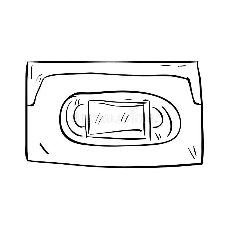 手拉的cassete乱画象 r 标志动画片标志 装饰元素 o ?? ?? 皇族释放例证