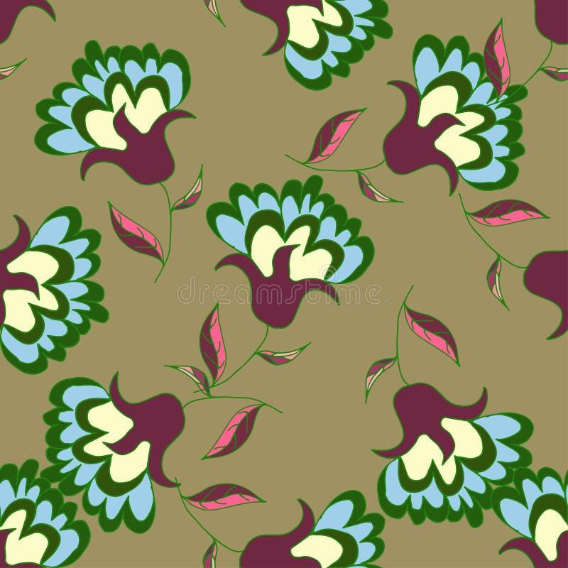 Download 手拉的loral无缝的样式 向量例证. 插画 包括有 装饰品, 设计, 五颜六色, 艺术性, beautifuler - 72359818
