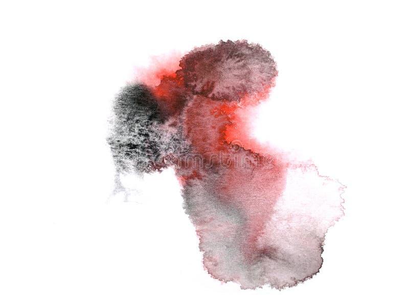 手拉红色和黑的摘要 : 弄湿在湿样式 库存例证