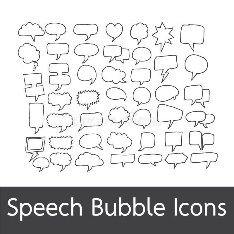 手拉讲话的泡影 库存例证