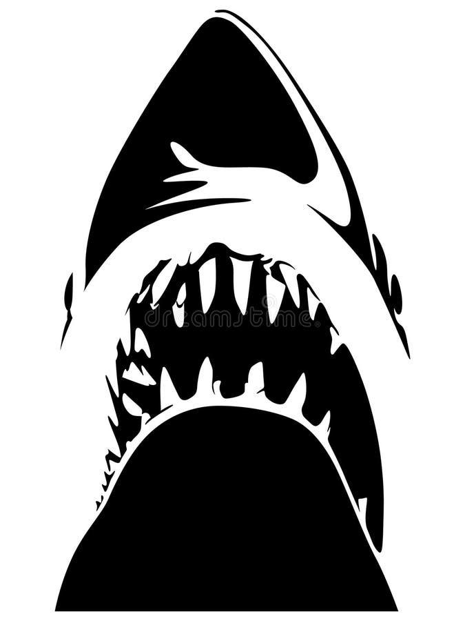 手拉鲨鱼的牙,传染媒介,Eps,商标,象,crafteroks,剪影例证为不同的使用 皇族释放例证