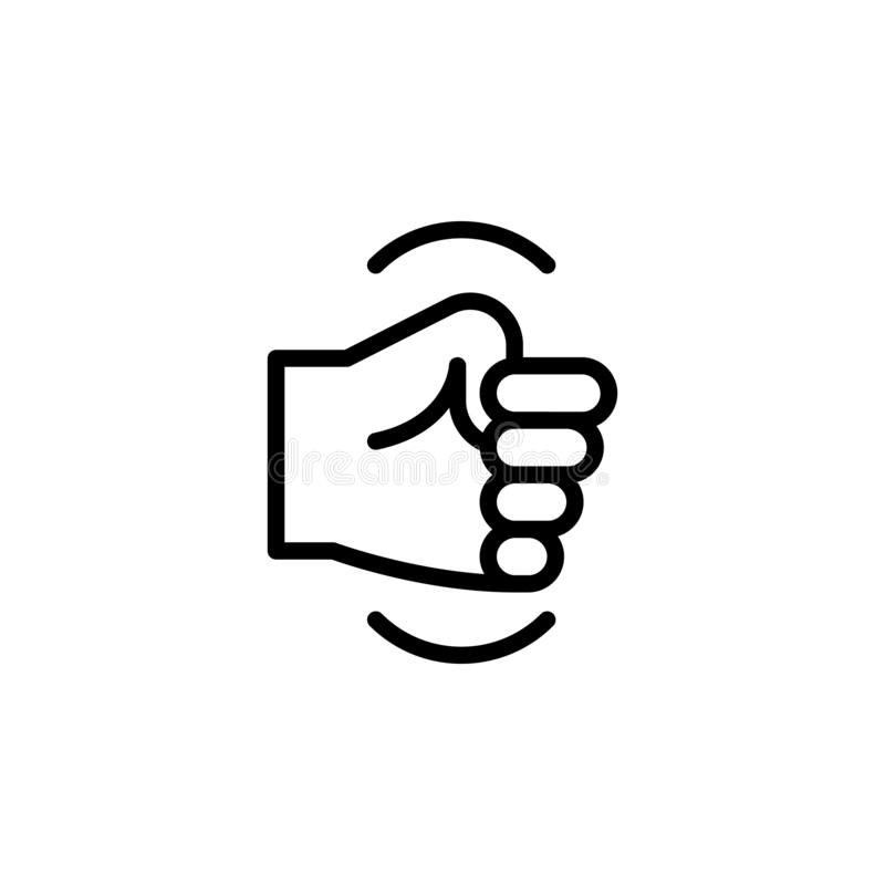 手拳头姿态概述象 手势例证象的元素 标志,标志可以为网,商标,流动应用程序使用, 皇族释放例证