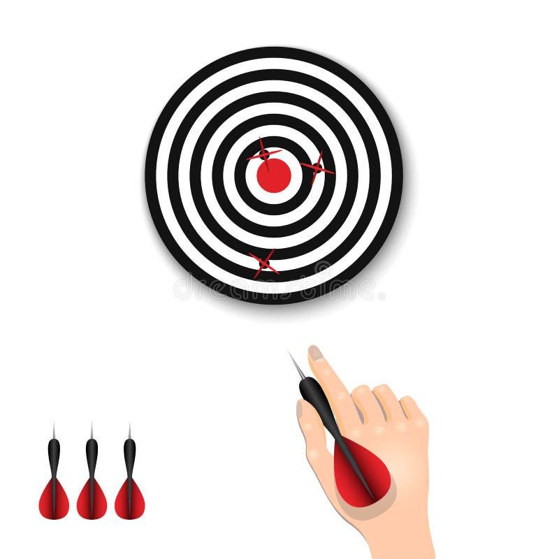 手拿着一支箭 箭比赛  t 向量例证