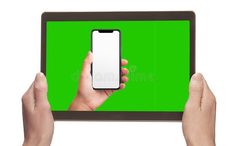 手持设备模板 免版税库存图片