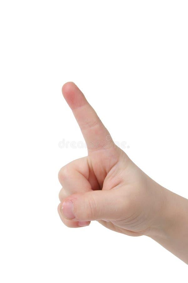 手指一 库存照片