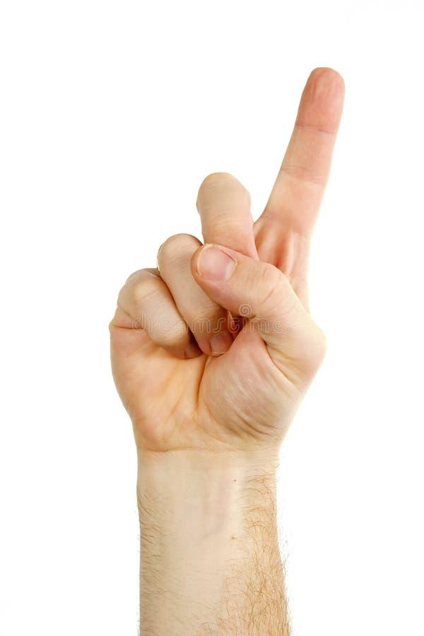 手指一 免版税库存图片