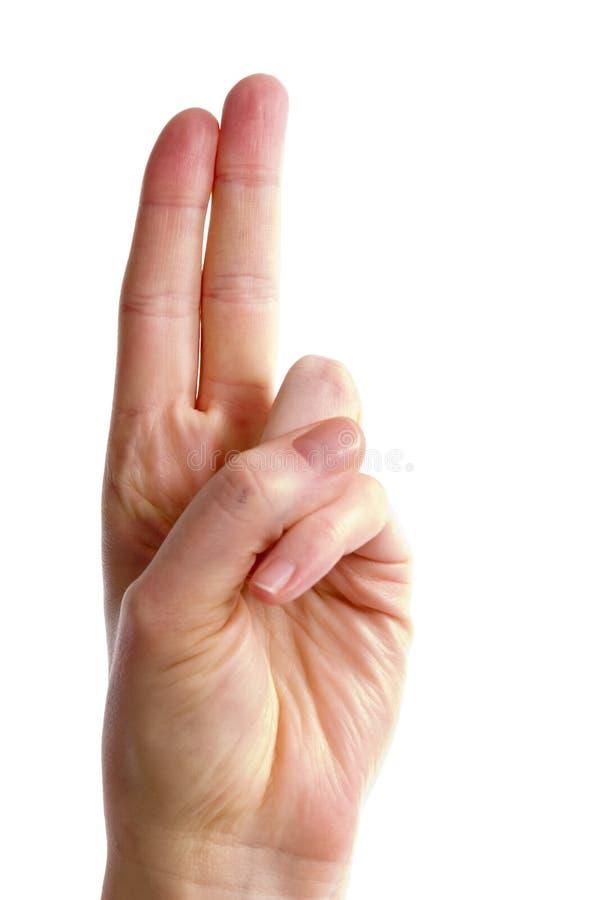 手指二 库存照片