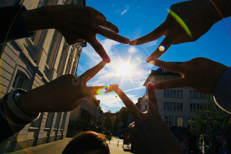 手指五角星形 免版税库存照片