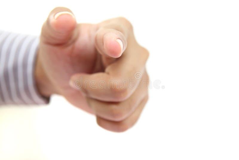 手指人指向 免版税库存图片
