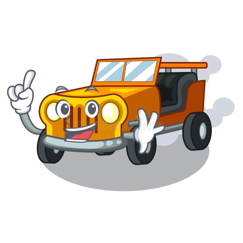 手指吉普在前面赦免的动画片汽车 向量例证
