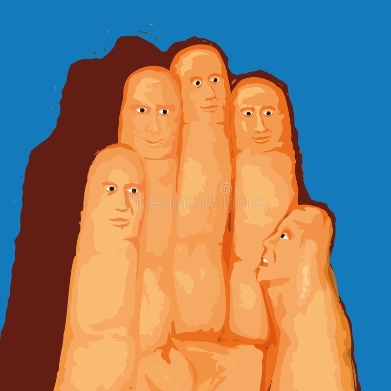 手指向量 向量例证