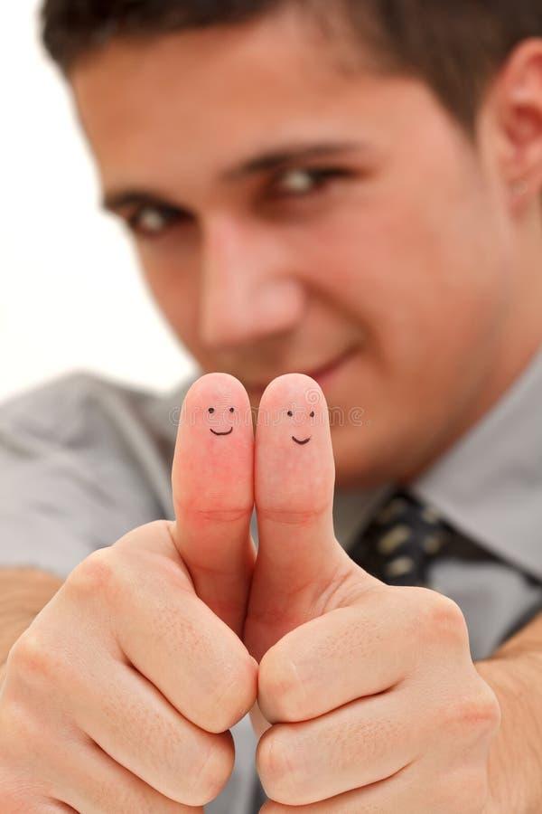 手指微笑 免版税库存照片
