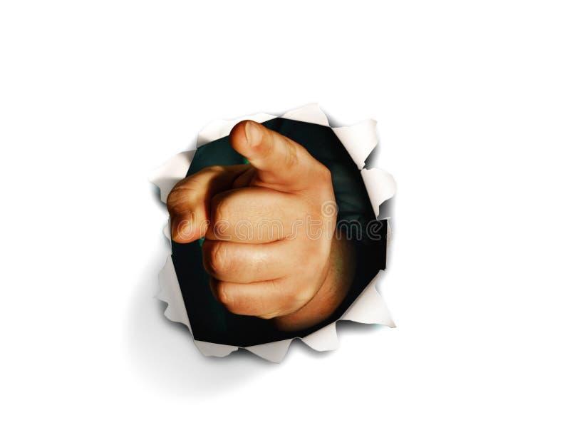 手指指向了 库存图片