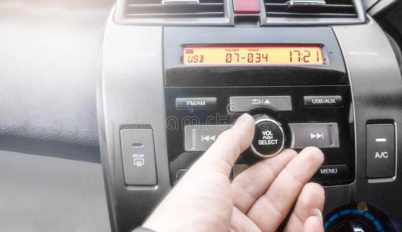 手指按按钮 图库摄影