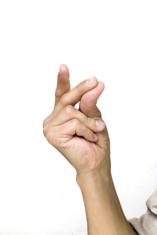 手指攫取 库存图片