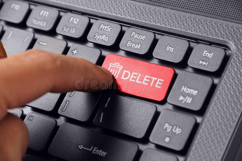 手指新闻删除按钮 库存照片