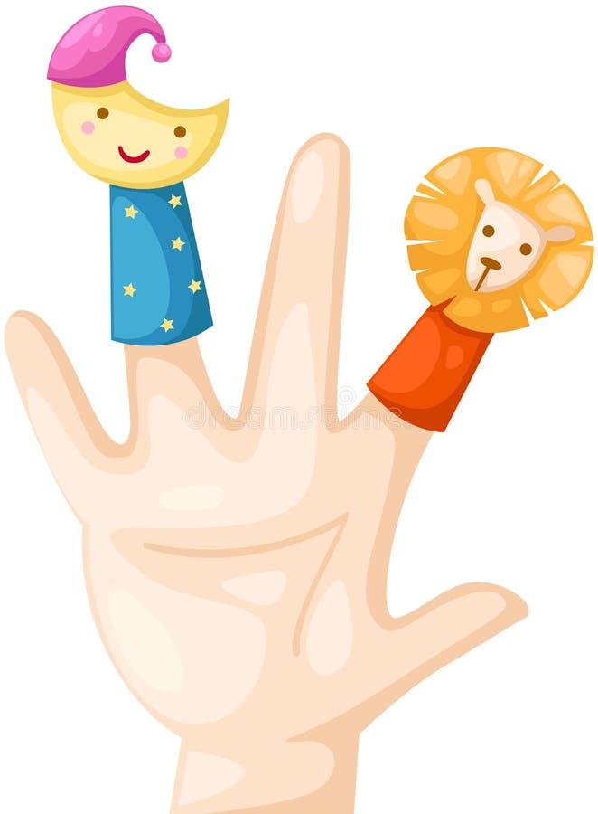 手指木偶 皇族释放例证