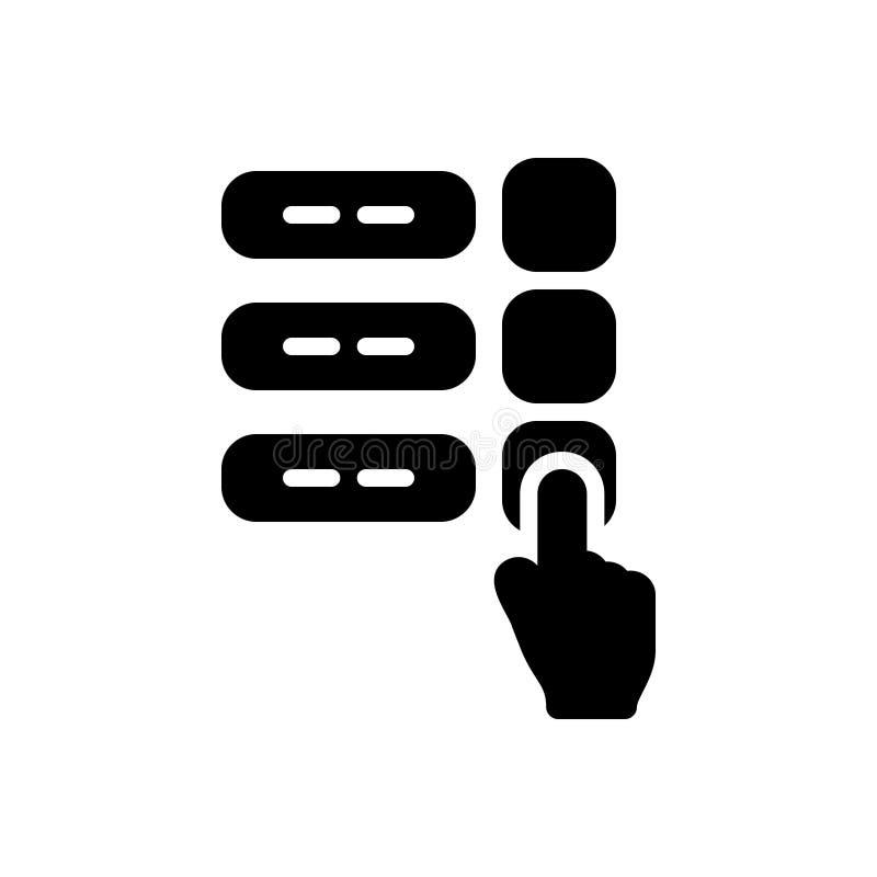 手指民意测验、调查和竞选的黑坚实象 库存例证