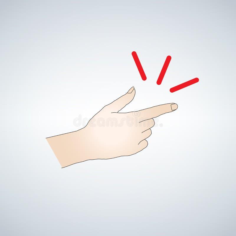 手指的短冷期 皇族释放例证