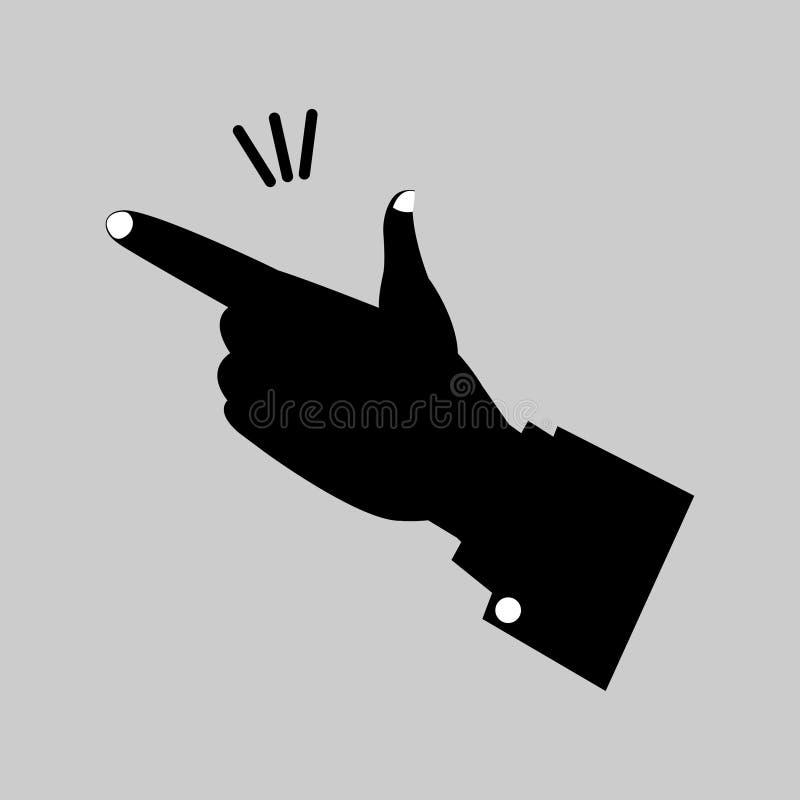 手指的短冷期 库存例证