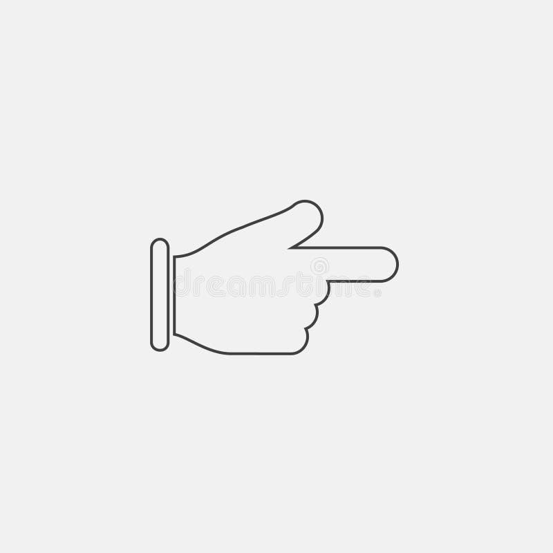 手指被留下的象 库存例证