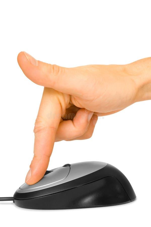 手指鼠标 库存图片