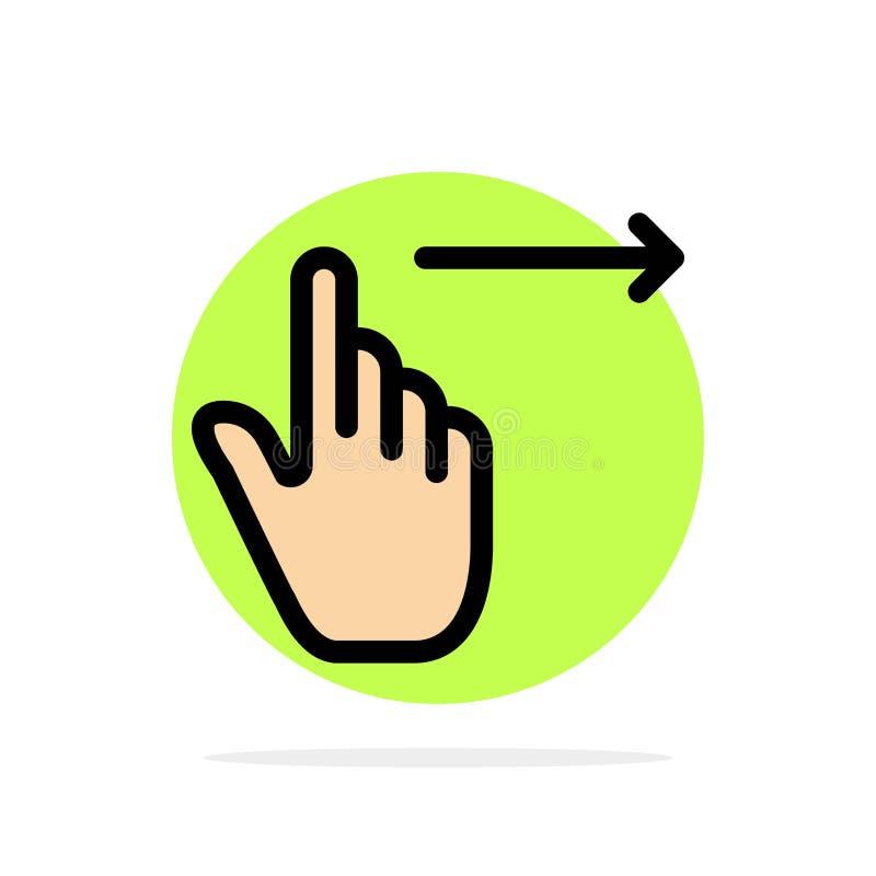 手指,姿态,权利,幻灯片,重击摘要圈子背景平的颜色象 库存例证