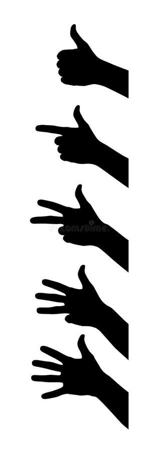 手指 皇族释放例证
