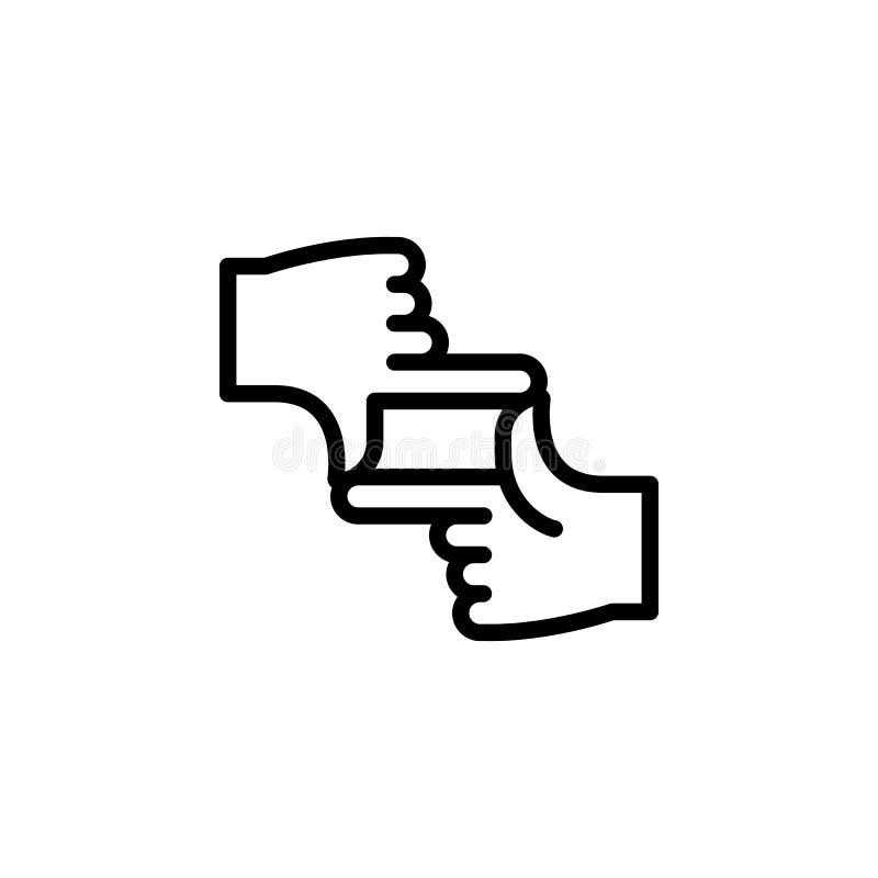 手接触姿态概述象 手势例证象的元素 标志,标志可以为网,商标,流动应用程序使用 向量例证