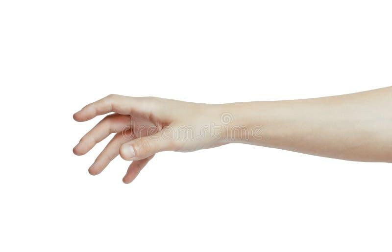 手提供援助,因此它可能握手 免版税图库摄影