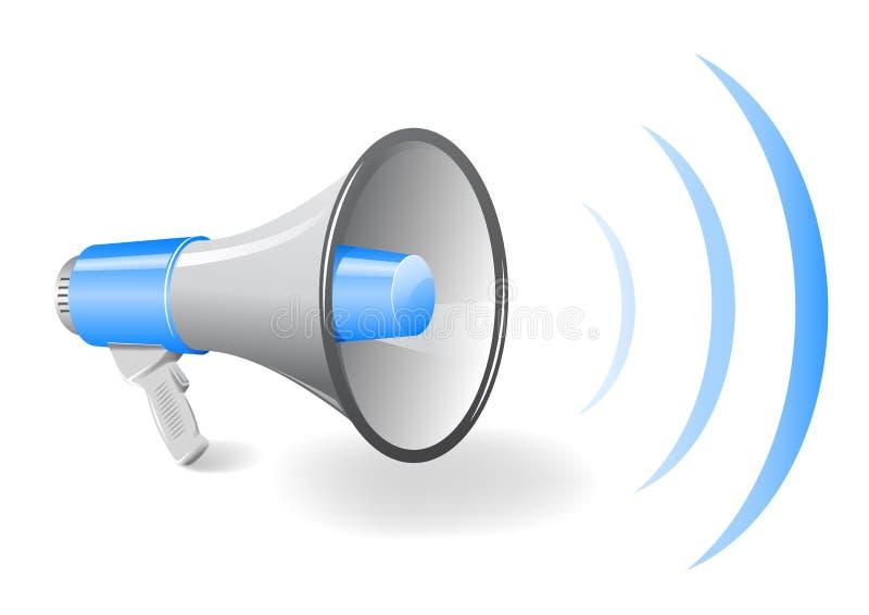 手提式扬声机扩音机 向量例证