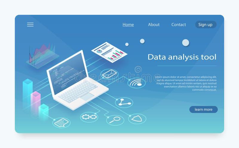 手提电脑使用,企业财务,会计概念 网站流动网站的数据分析 库存例证