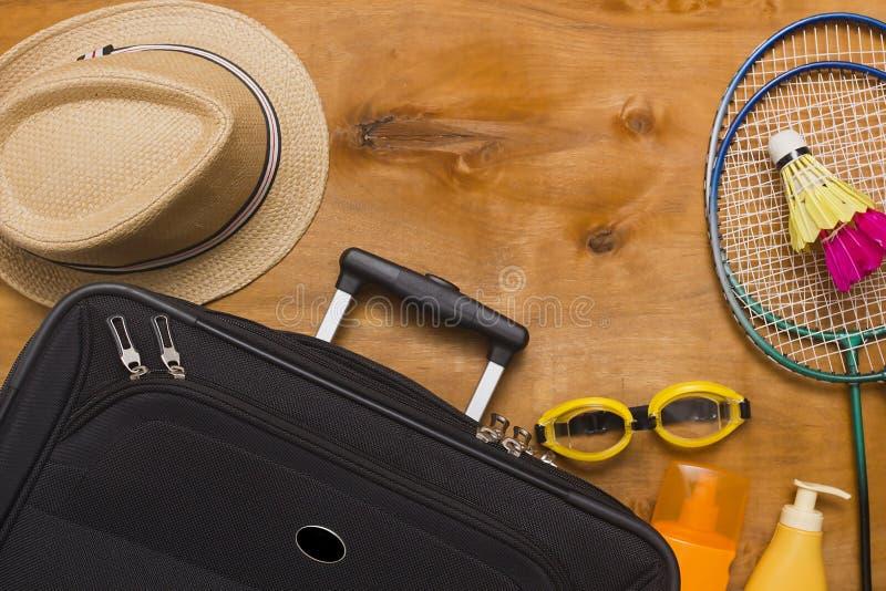 手提箱和旅行袋子 库存图片