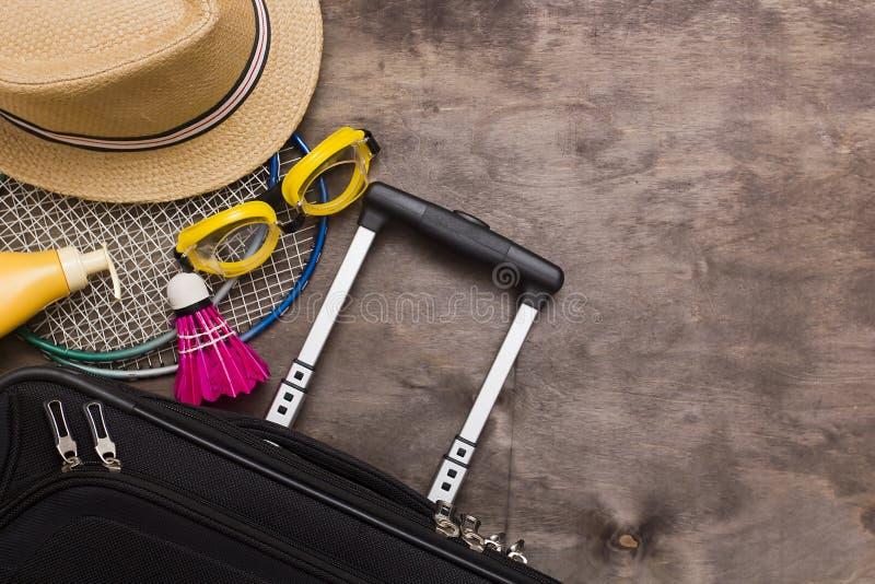 手提箱和旅行袋子 库存照片