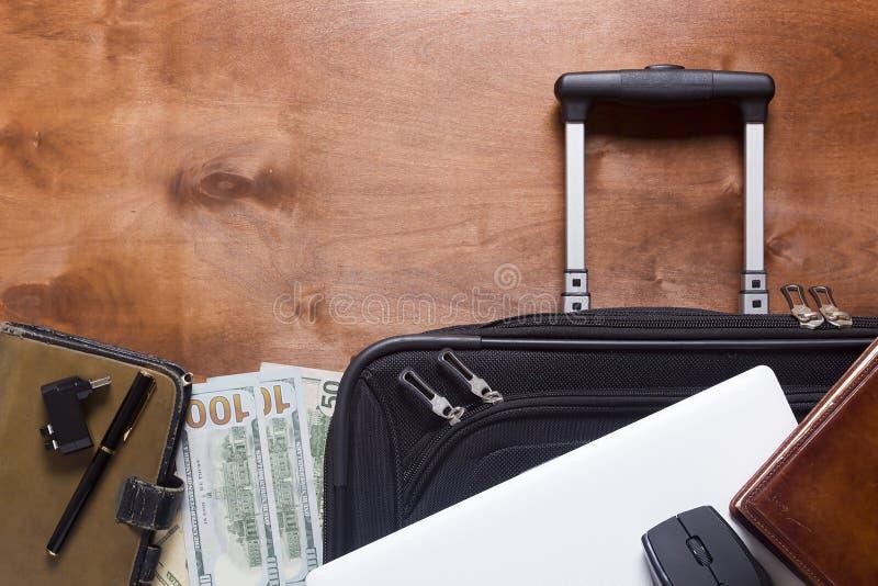 手提箱和行李商务旅游的 免版税库存照片