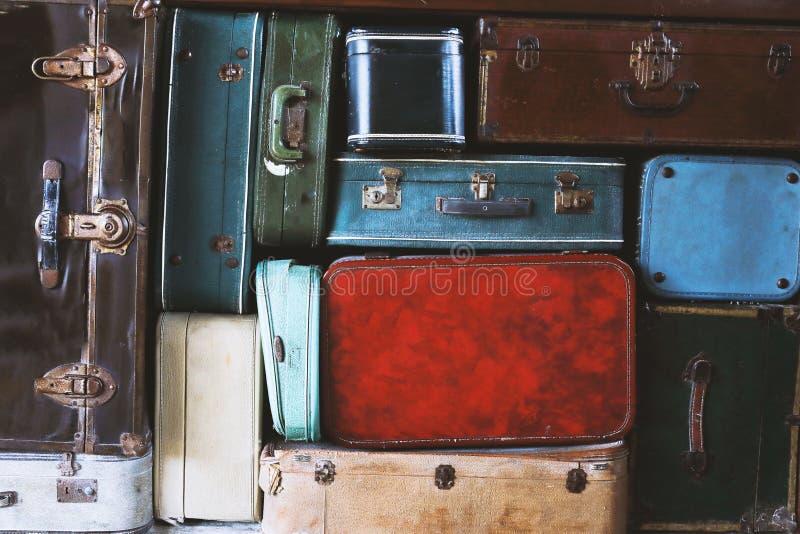手提箱抽象视图  免版税图库摄影