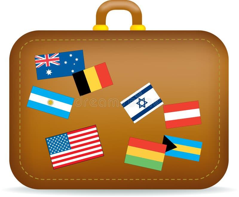 手提箱旅行 向量例证