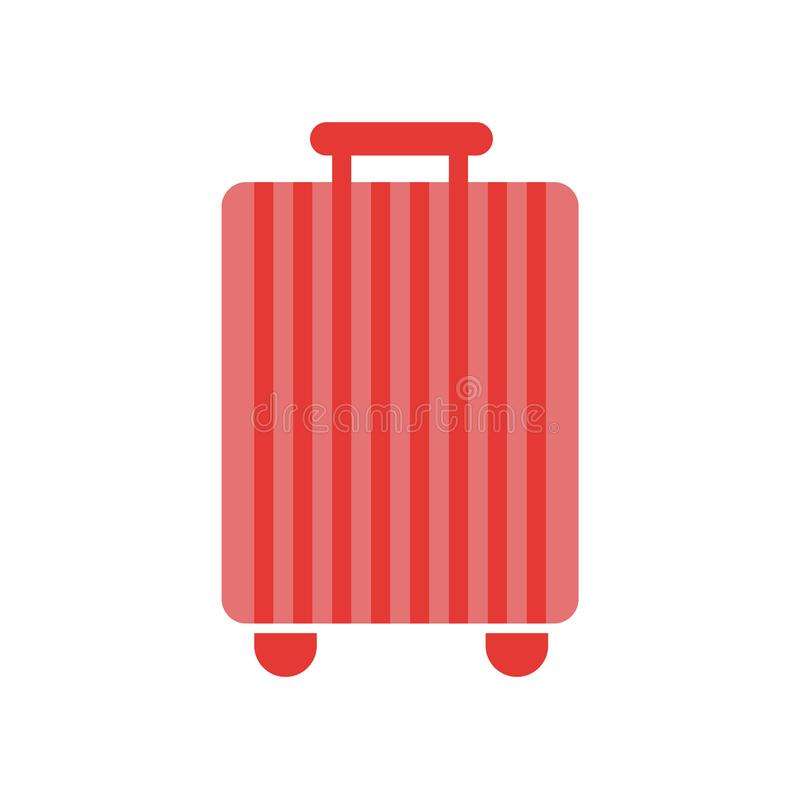 手提箱象在白色backgroun和标志隔绝的传染媒介标志 向量例证