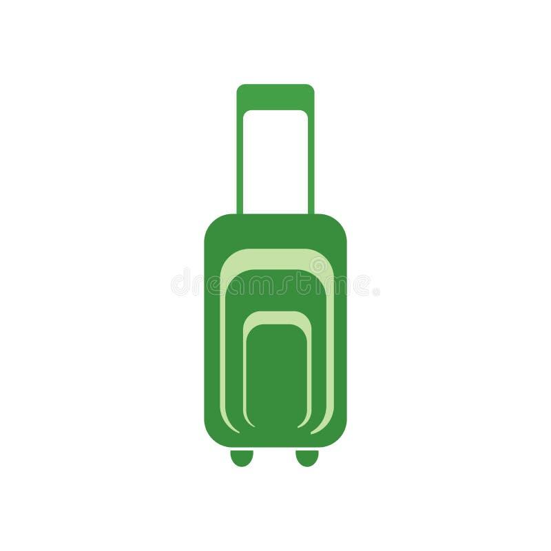 手提箱象在白色backgroun和标志隔绝的传染媒介标志 库存例证