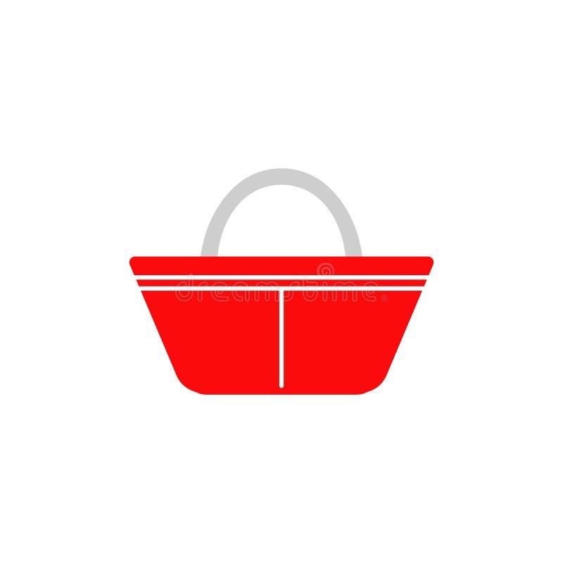 手提篮象 商标元素例证 手提篮标志设计 色的收藏 手提篮概念 ? 皇族释放例证