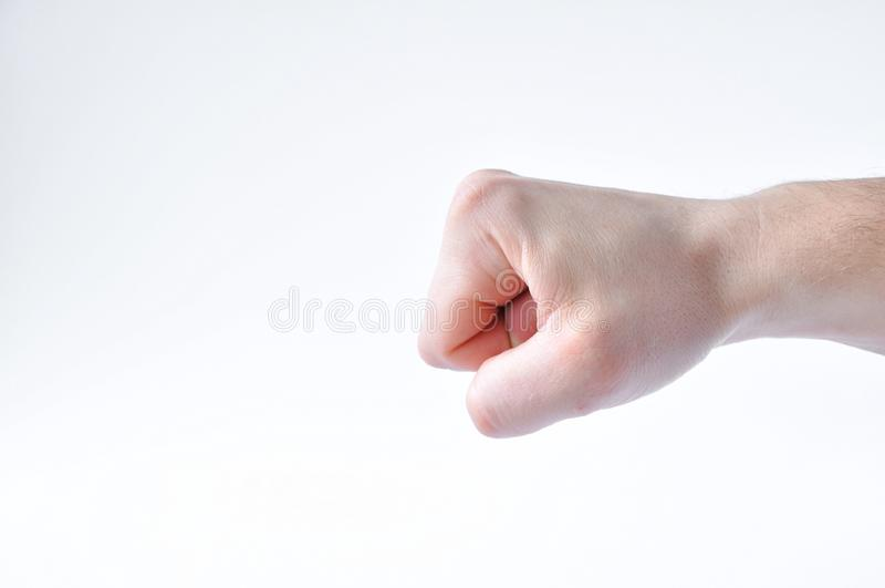 手握紧了入拳头 免版税库存照片