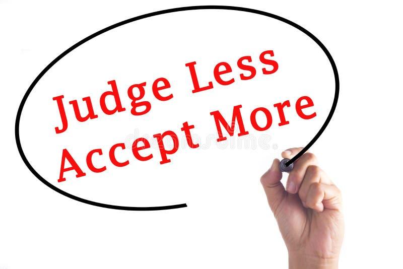 手文字法官接受更多在透明委员会 库存照片