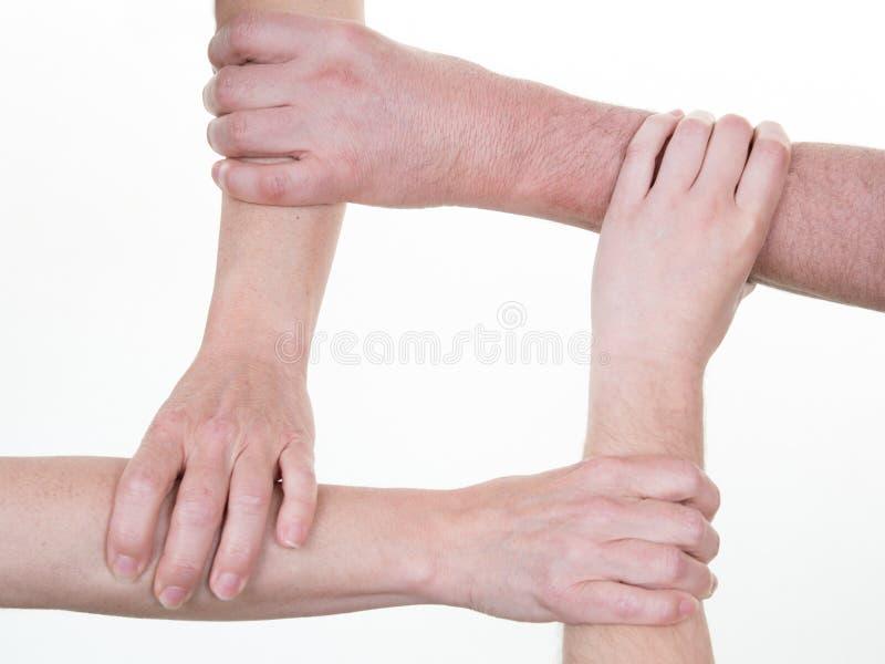 手是配合合作统一性的合作概念 免版税库存图片